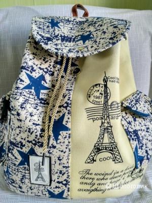 Новый рюкзак из плотного канваса