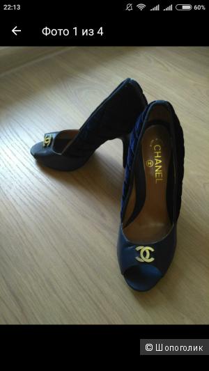 Туфли с открытым носом Chanel 38 р-р