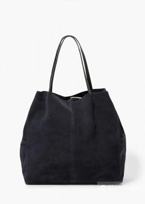 Замшевая сумка Mango натуральная замша