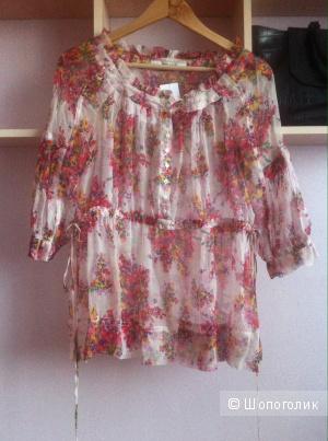 Новая блузка Zara, 100% шелк