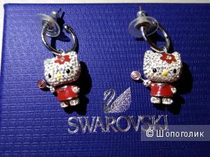 Серьги Swarovski, коллекция Hello Kitty Lollipop, длина 3,2 см