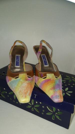 Босоножки замшевые многоцветные MAGRIT, размер 39, Испания