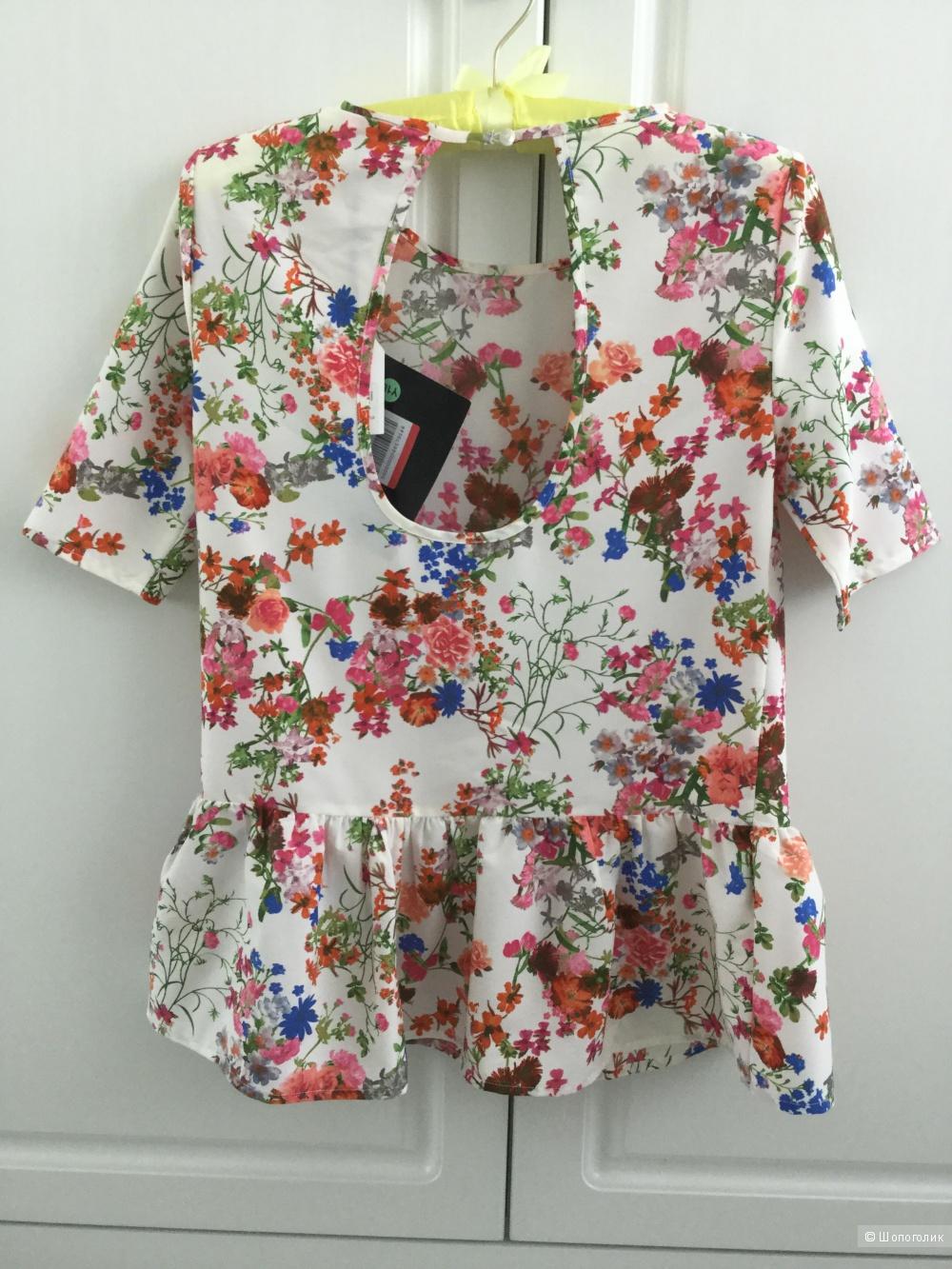 Блузка Only в цветочек, маркировка 34 (fr), на русский размер 42-44