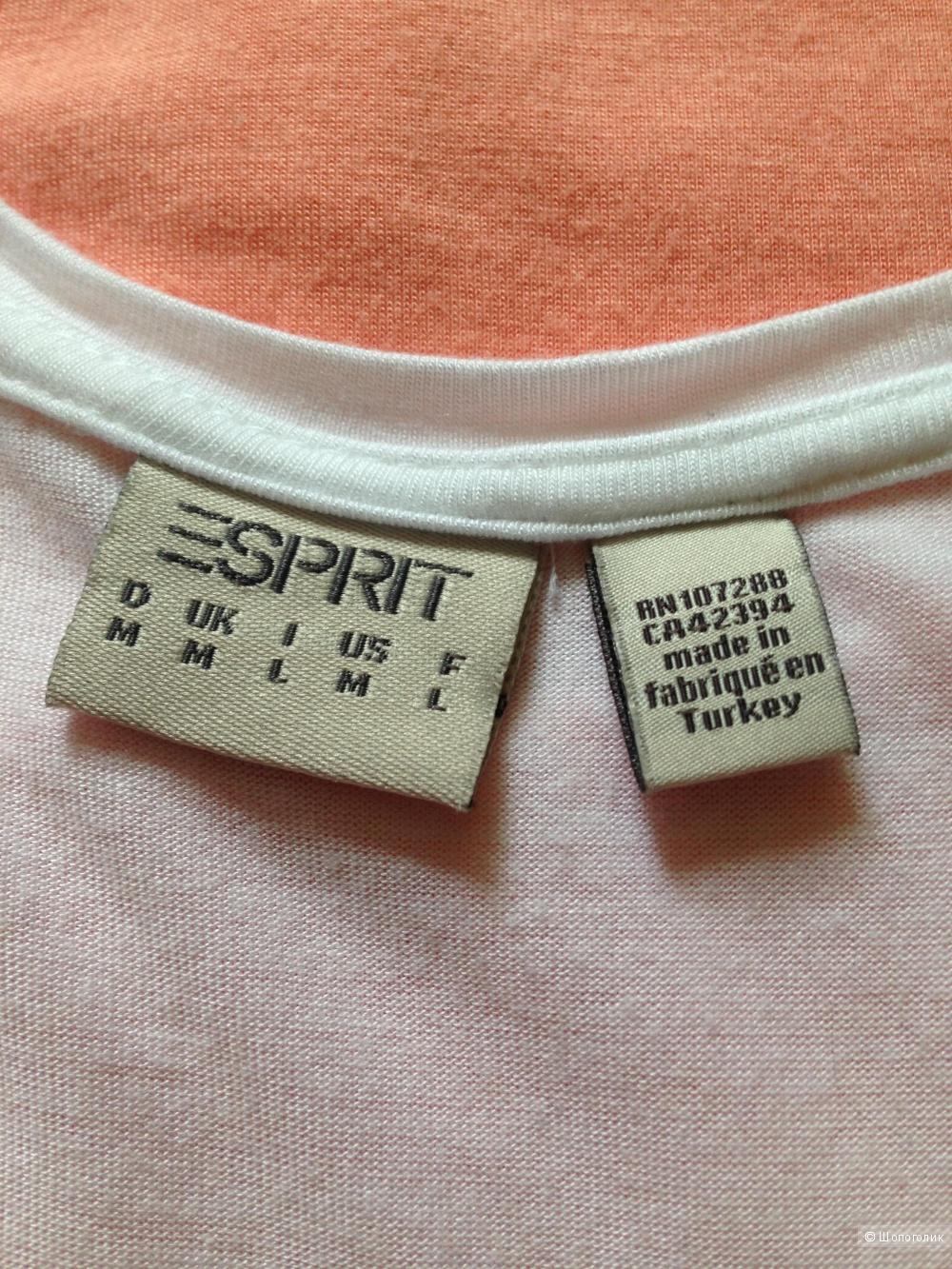 Трикотажная майка-топ Esprit персикового цвета, размер M/L на 44-46