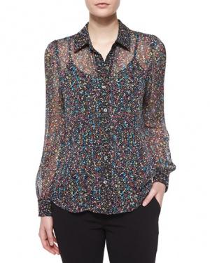 DIANE VON FURSTENBERG, 6 US, шелковая блузка