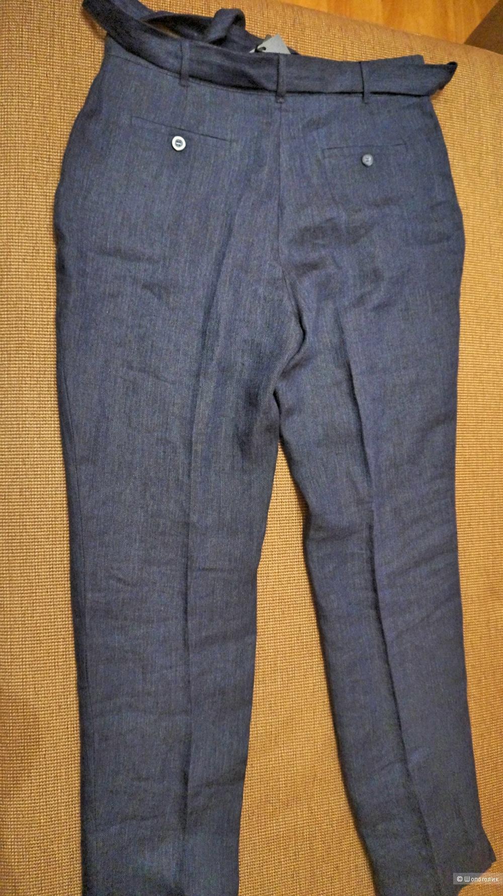 Льняные женские брюки-морковки Cyrillus р. 46 (М)