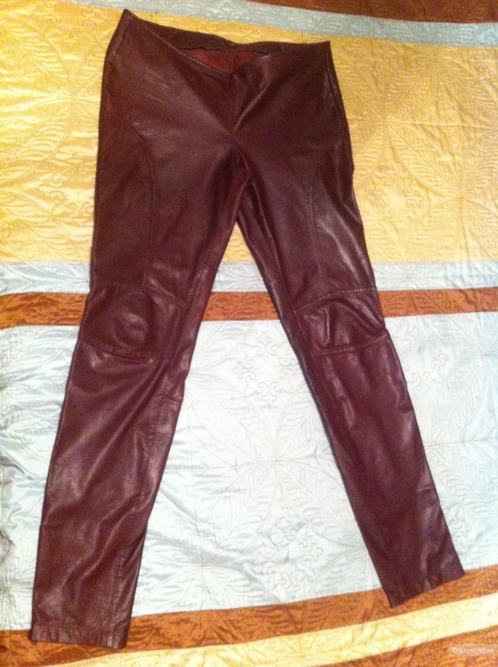 Кожаные женские брючки Tom Tailor Denim, размер М (46)