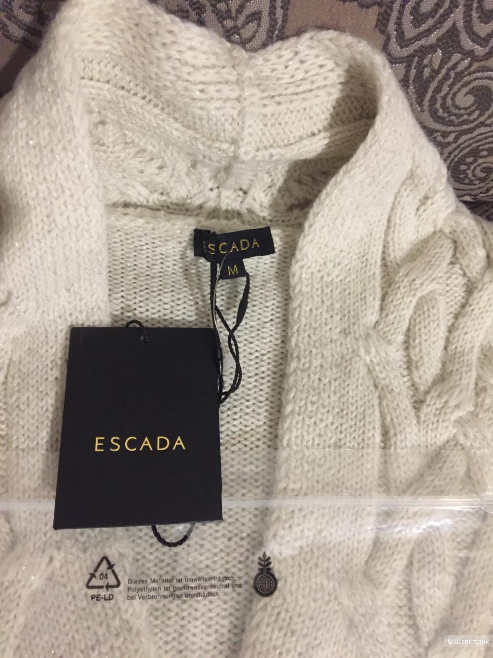 Удлиненный вязаный кардиган Escada размер М
