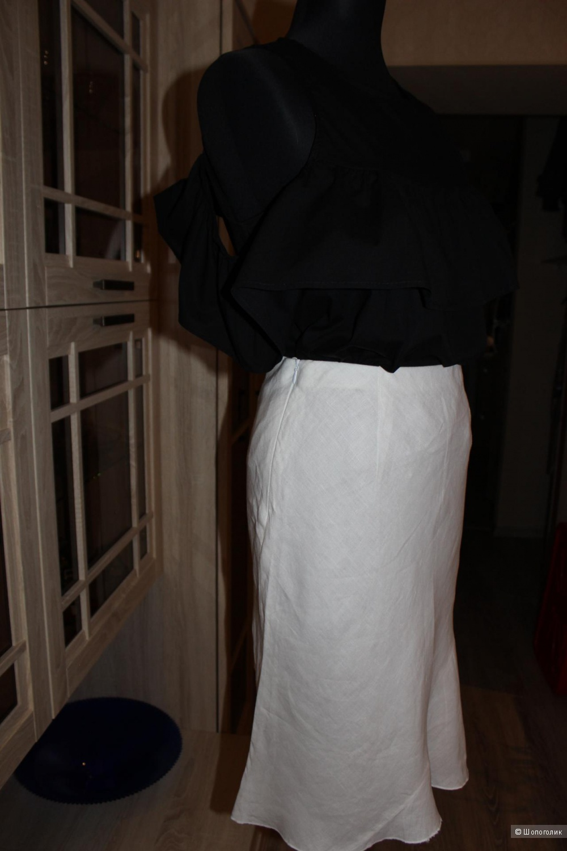 Льняная итальянская юбочка, размер IT 42