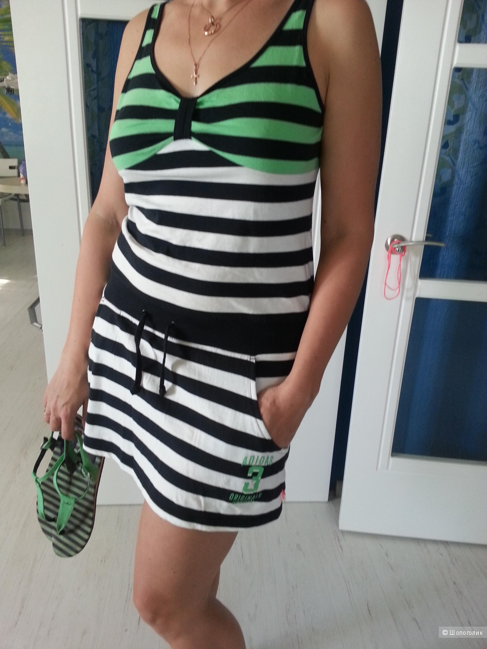 Платье летнее, Адидас, размер 16 англ.