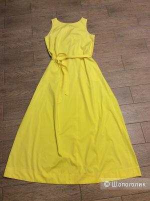Солнечно-желтое летнее длинное платье Lakbi р.44 (на 44-46)