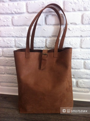Кожаная сумка шоппер