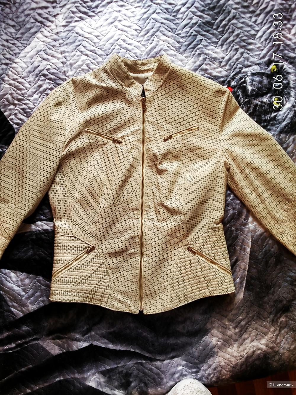 Кожаный жакет-куртка из Италии 46р