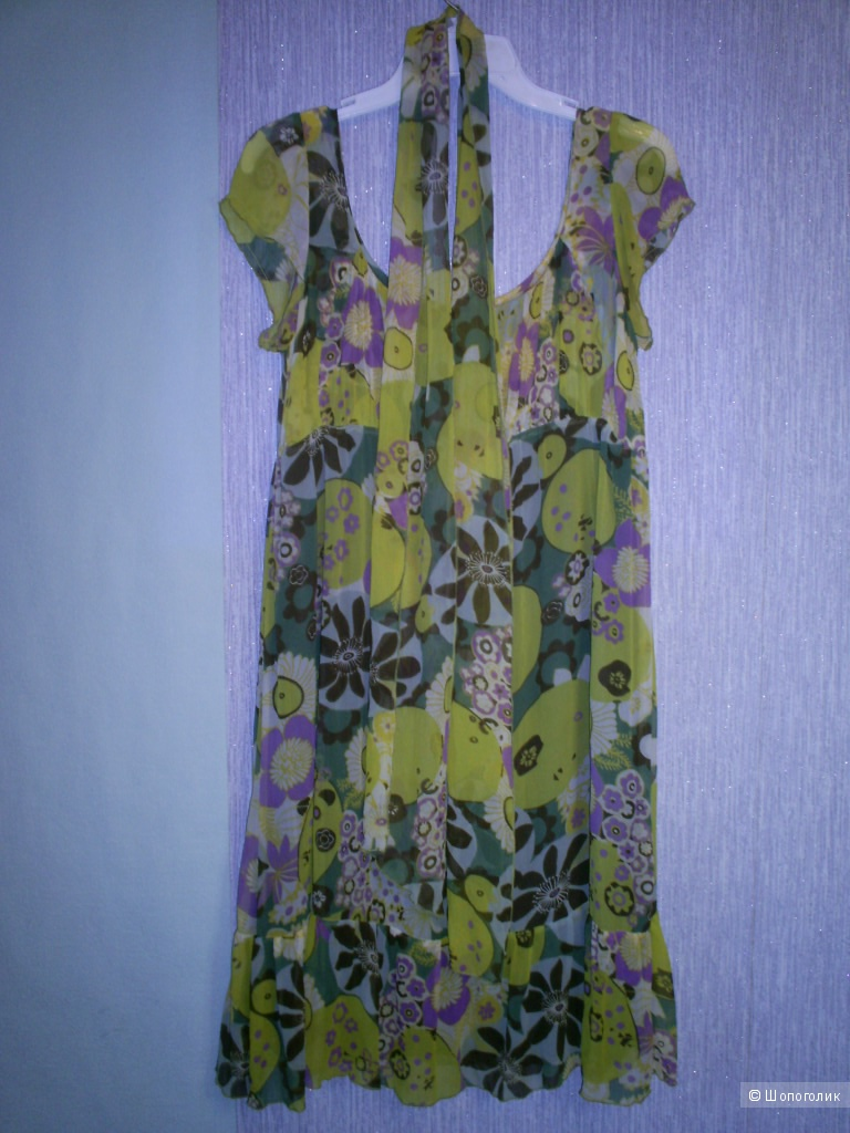 Шелковое итальянское платье от Attesa р 44-46.