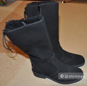 Утепленные деми сапоги, черные, 31 размер