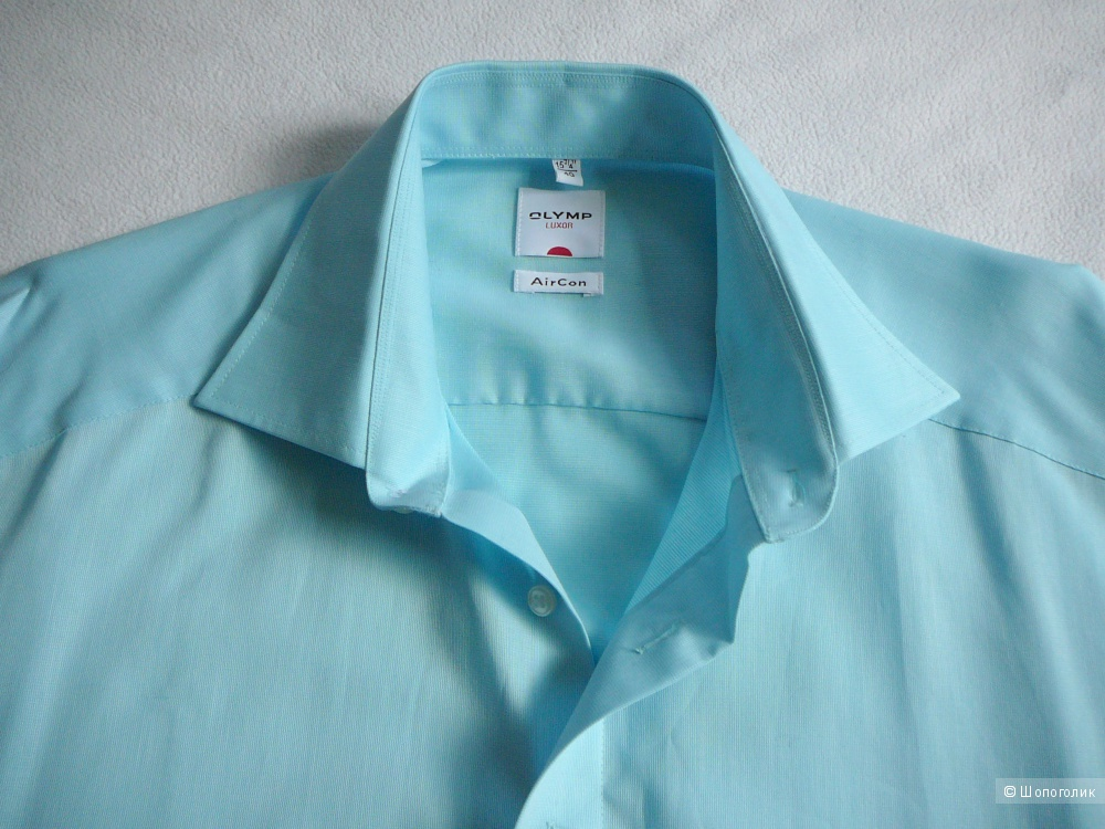 Новая мужская рубашка OLYMP LUXOR Aircon ворот 40 (не требует глажки)
