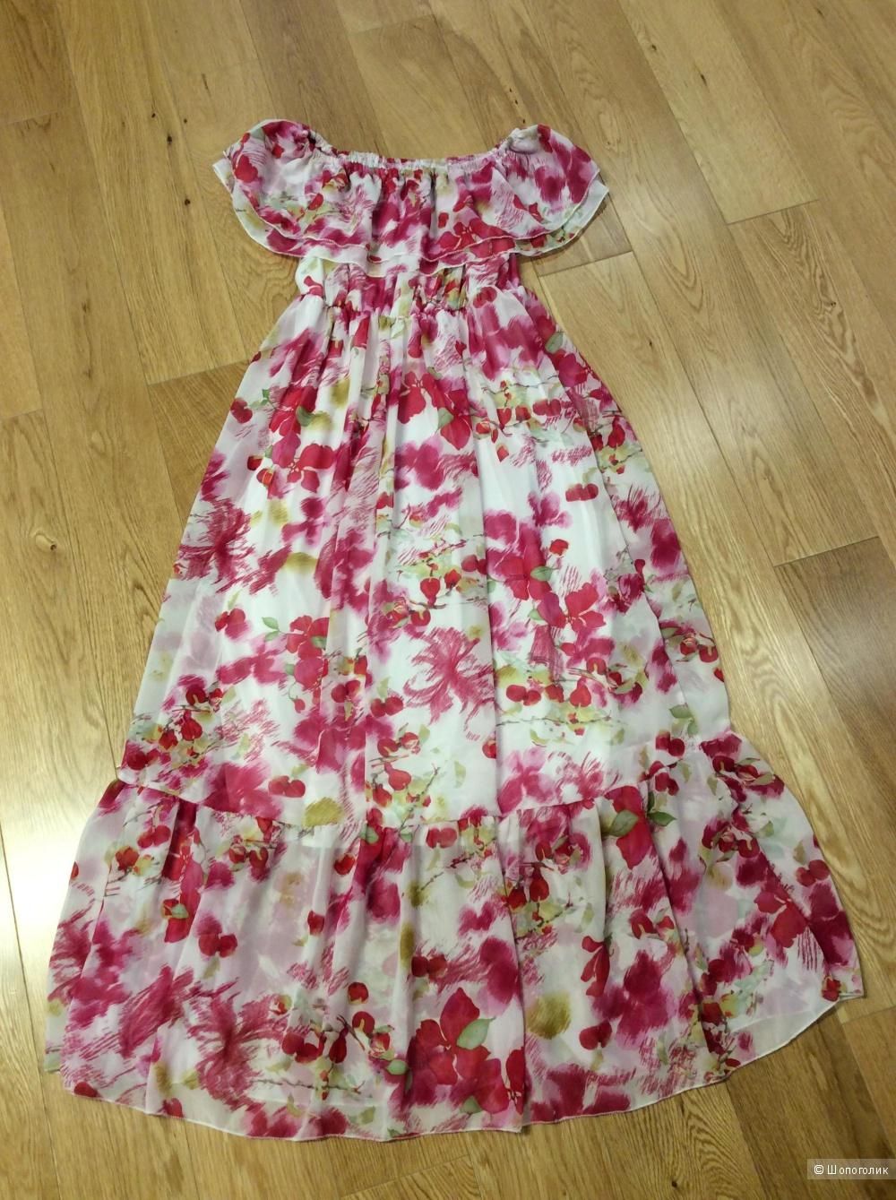 Романтичное шифоновое платье на невысокий рост р. 42-44
