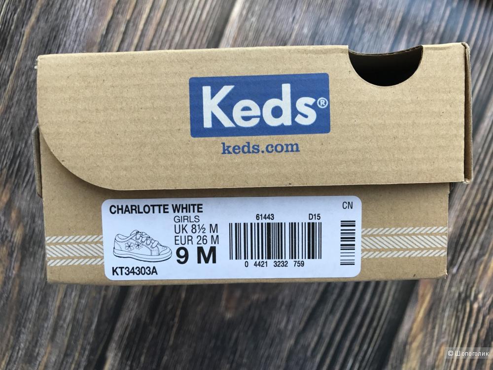 Кеды для девочки keds, размер 26