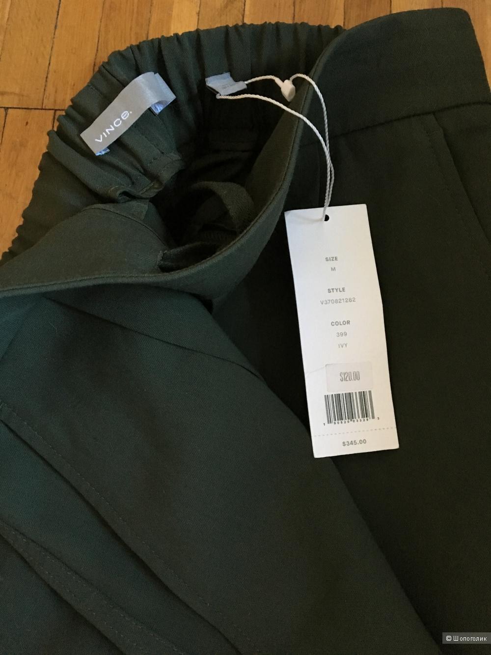 Новые зеленые брюки Vince, размер M