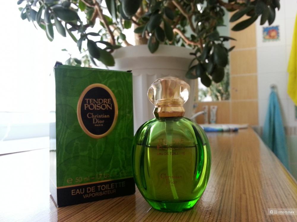 Туалетная вода Poison Tendre Christian Dior 98 г.в.остаток от 50 мл