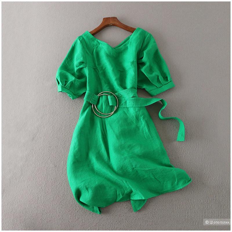Платье зеленое размер 44