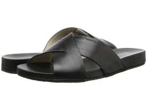 Черные кожаные шлепки Michael Michael Kors, размер US 6.5