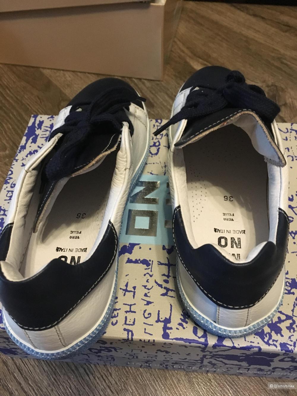 Новые кожаные кеды (кроссовки) MOMINO