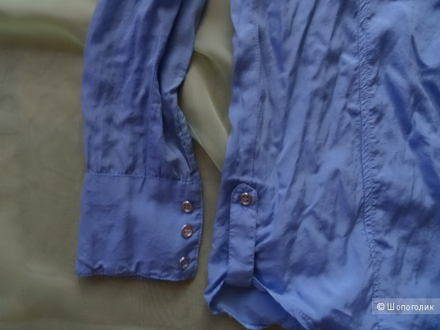"Голубая приталенная рубашка ""Tally weijl"", размер XS/34/6,б/у"