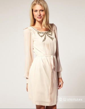 Платье Oasis bow Front pleat dress р.44-46/ uk 12- eu 38