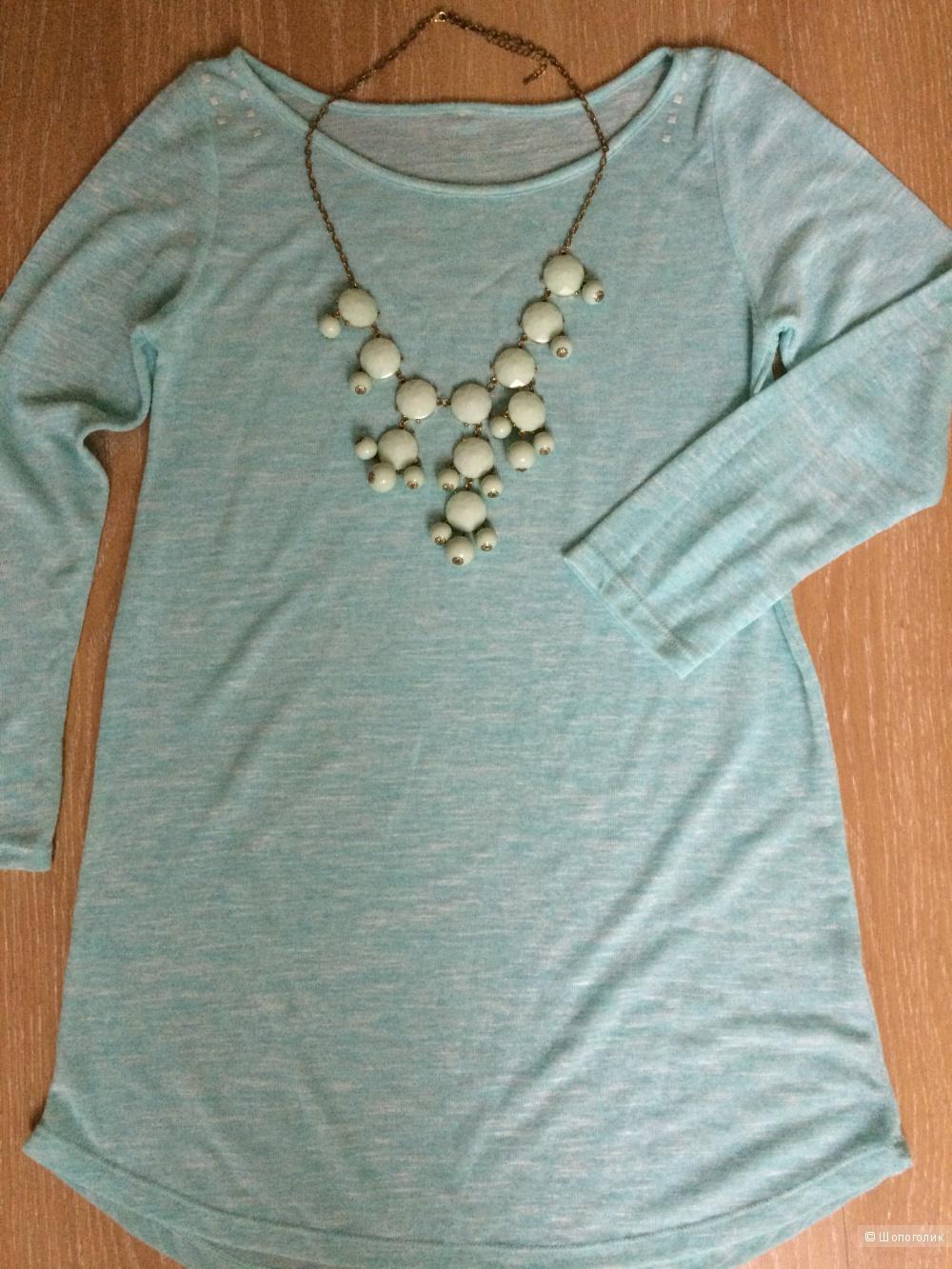 Bubble necklace нежного мятного цвета