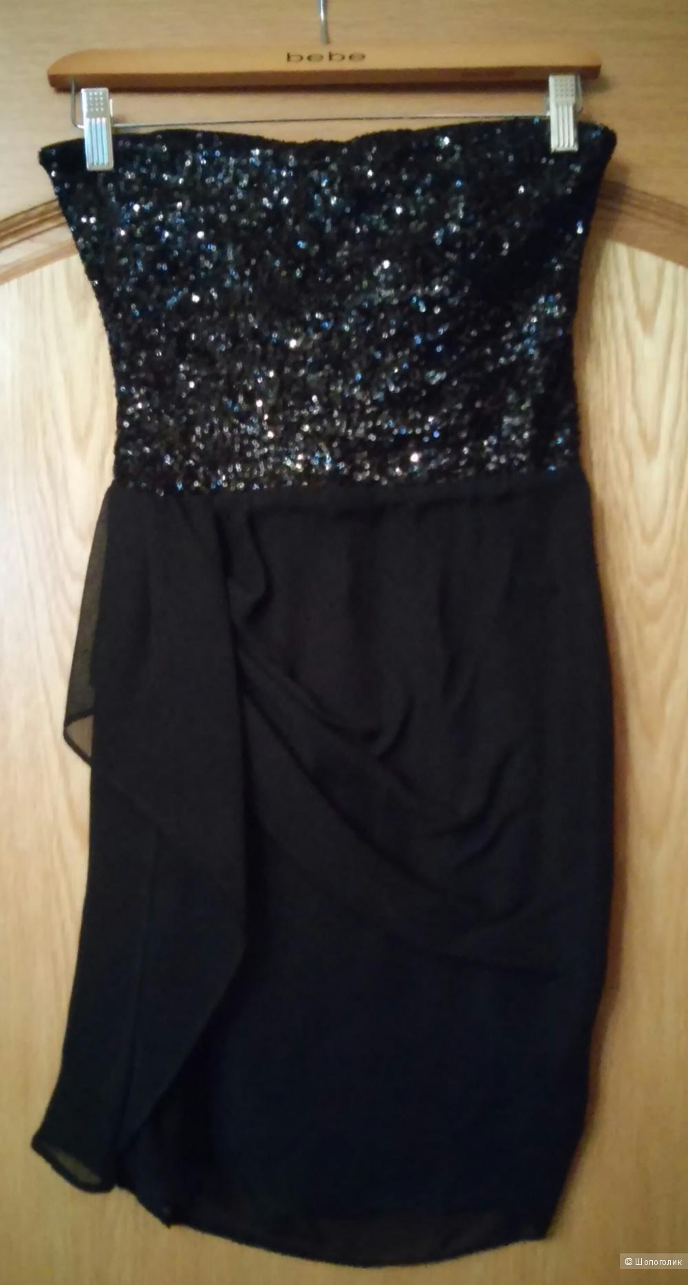 Новое вечернее платье Bebe, размер XS