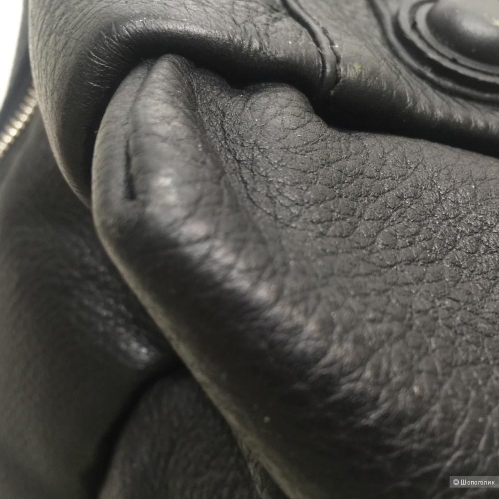 Сумка кожаная дорожная, нанесен логотип Giorgio Armani