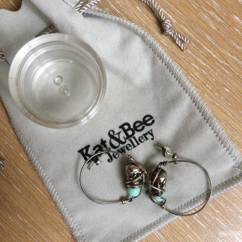 Серебряные серьги kat & bee с черепом