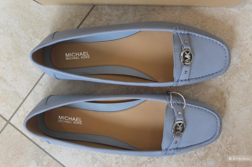 Новые голубые мокасины балетки Michael Kors, размер 8