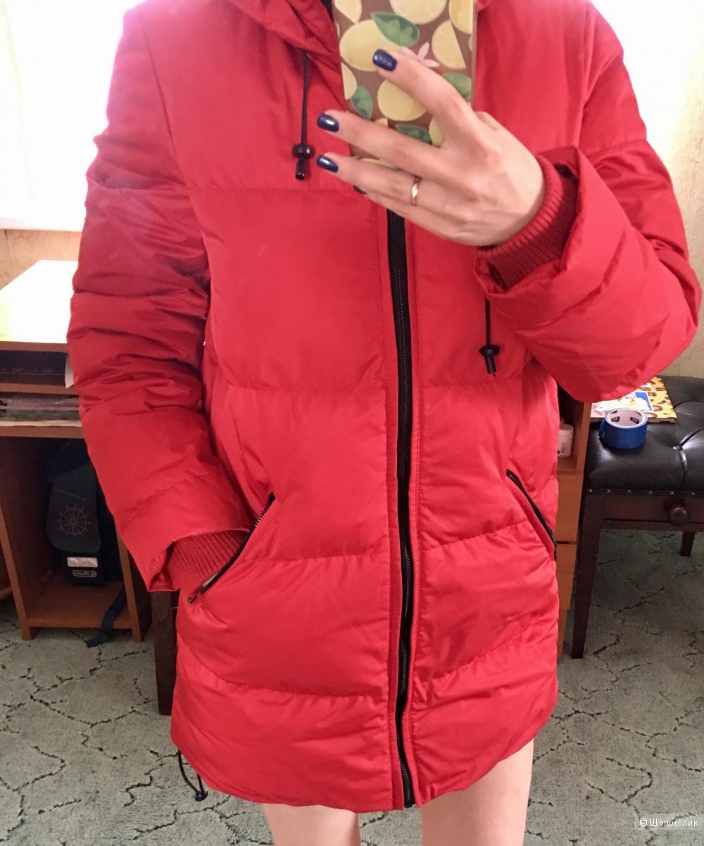 Куртка зимняя красная Zara размер 44