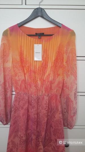 Новое абрикосово-малиновое платье Mango р.40