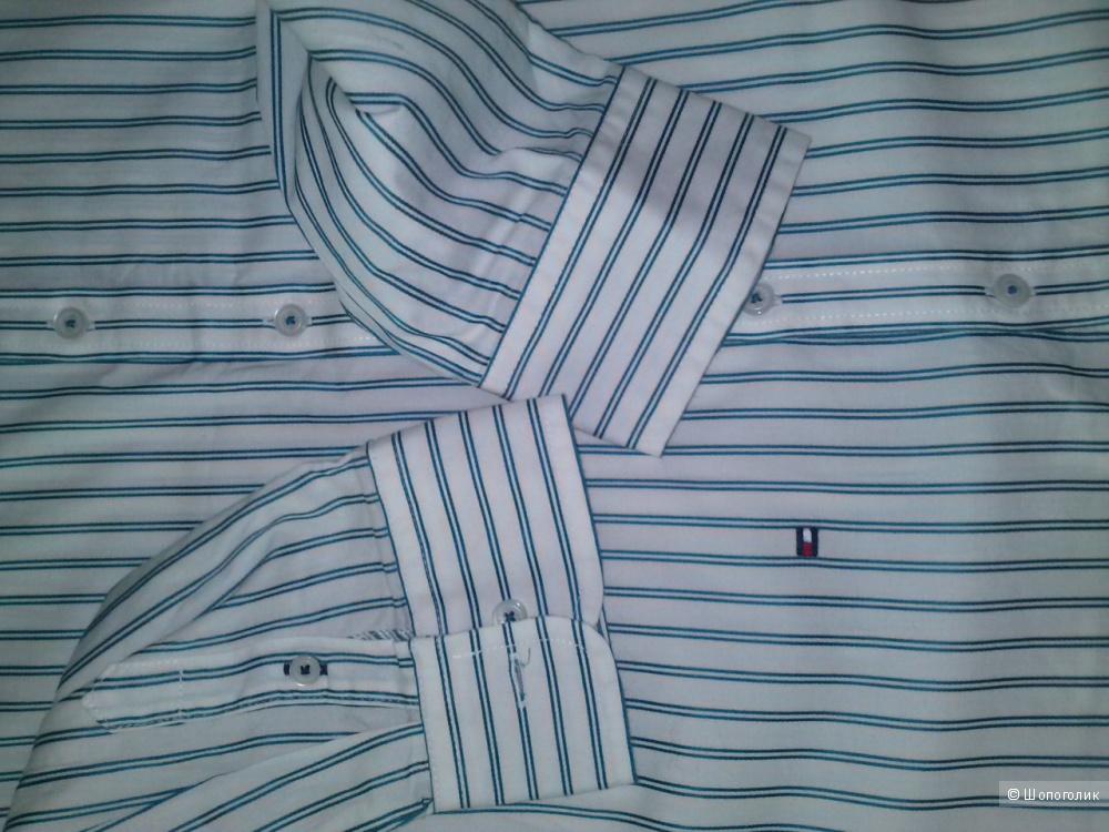 Tommy Hilfiger рубашка в изумрудную полоску, размер 12. Новая