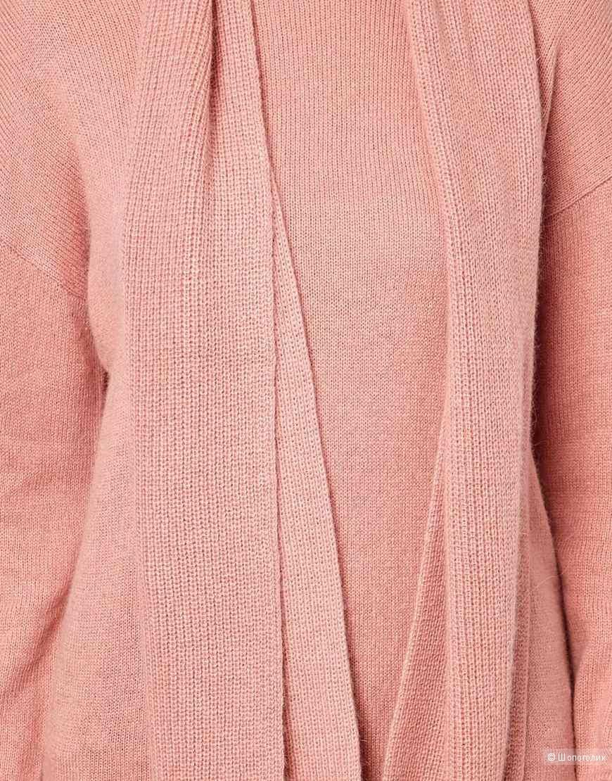 Ангоровое платье с шарфом Asos 42 размер