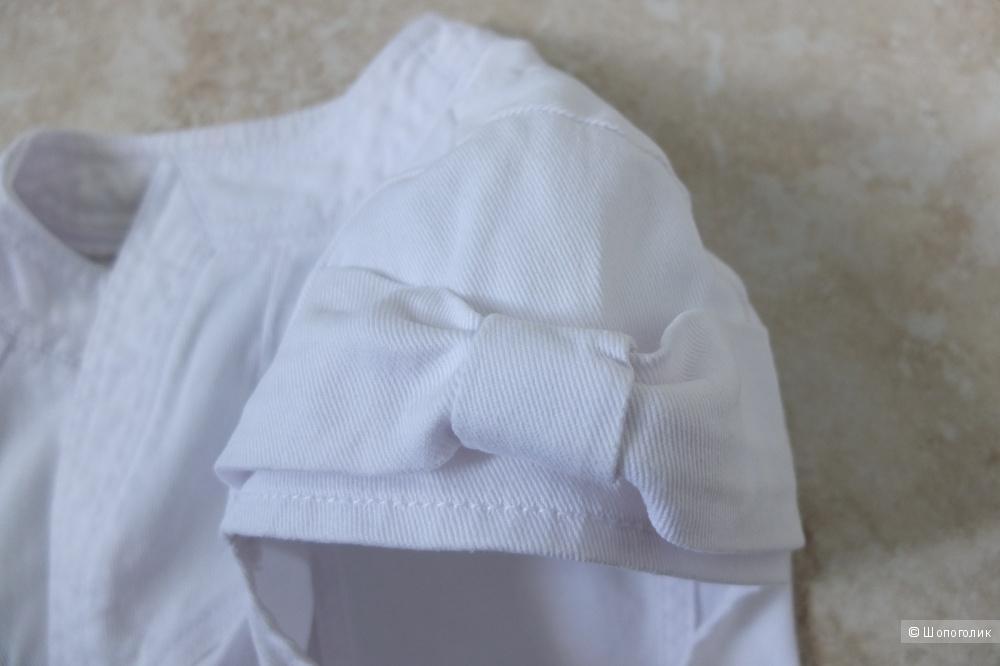 Белая джинсовая жилетка болеро Stradivarius, размер 44