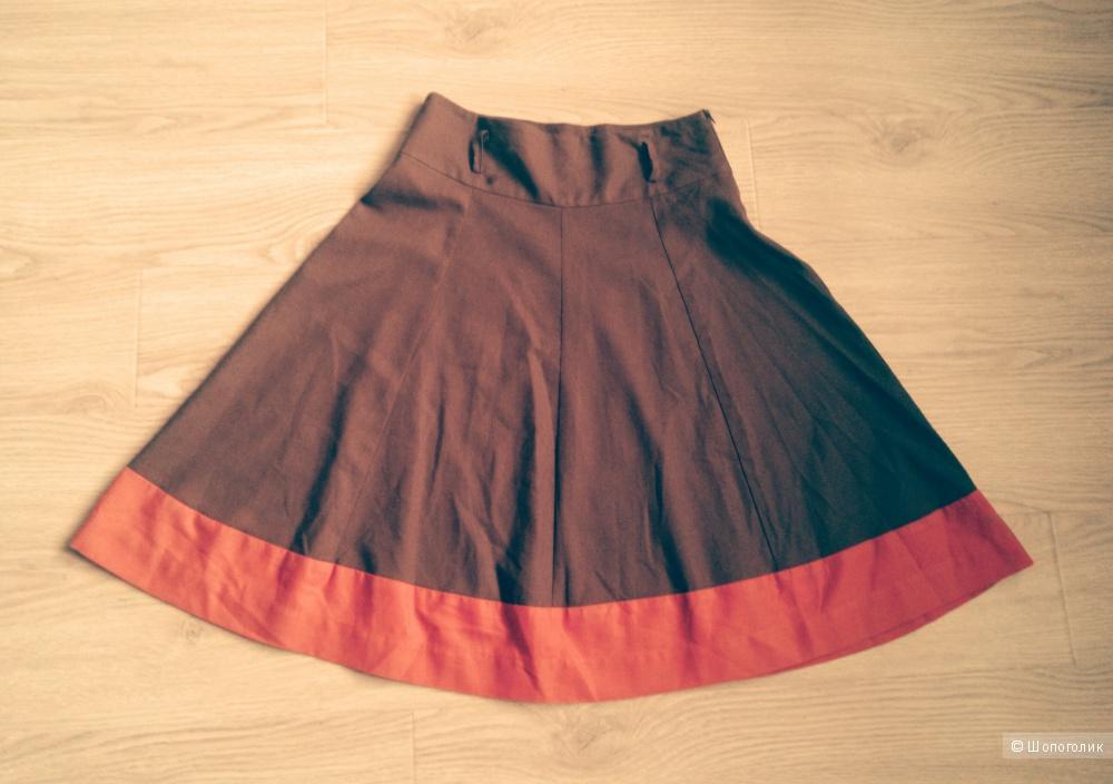 Оригинальный комплект Oodji юбка+кардиган+топ+ремешок 44-го размера