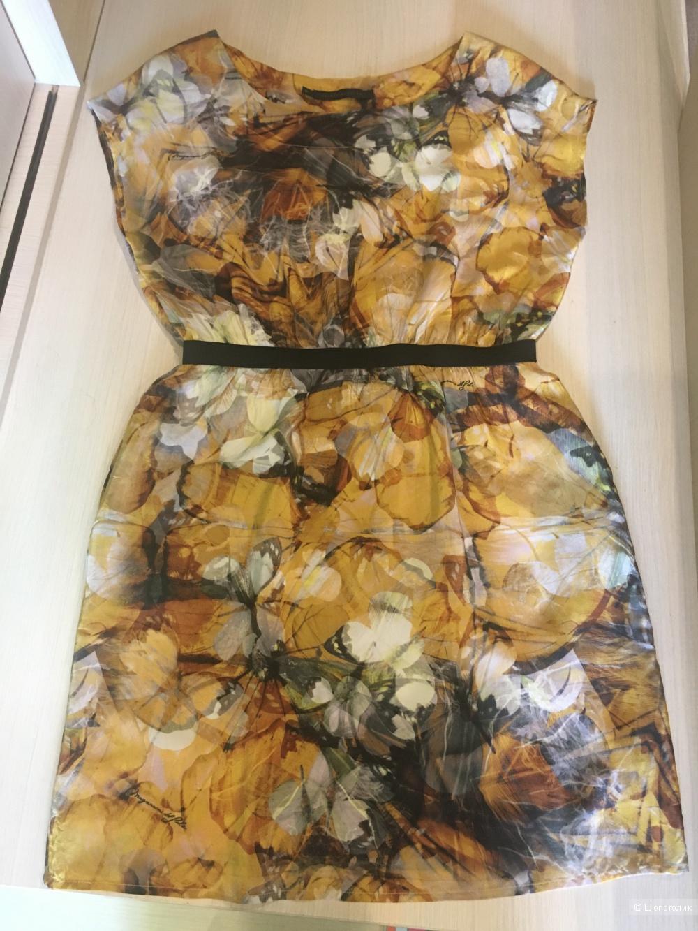 Платье из натурального шёлка размерM