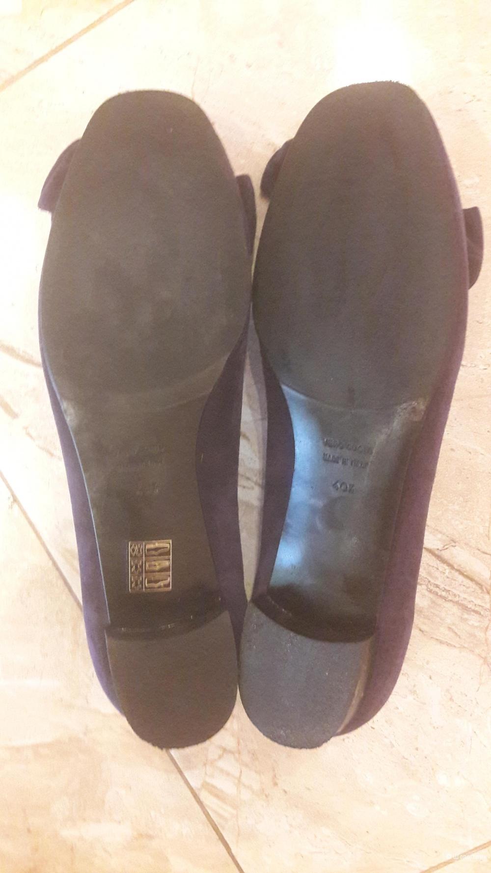 Туфли замшевые 40.5 размера