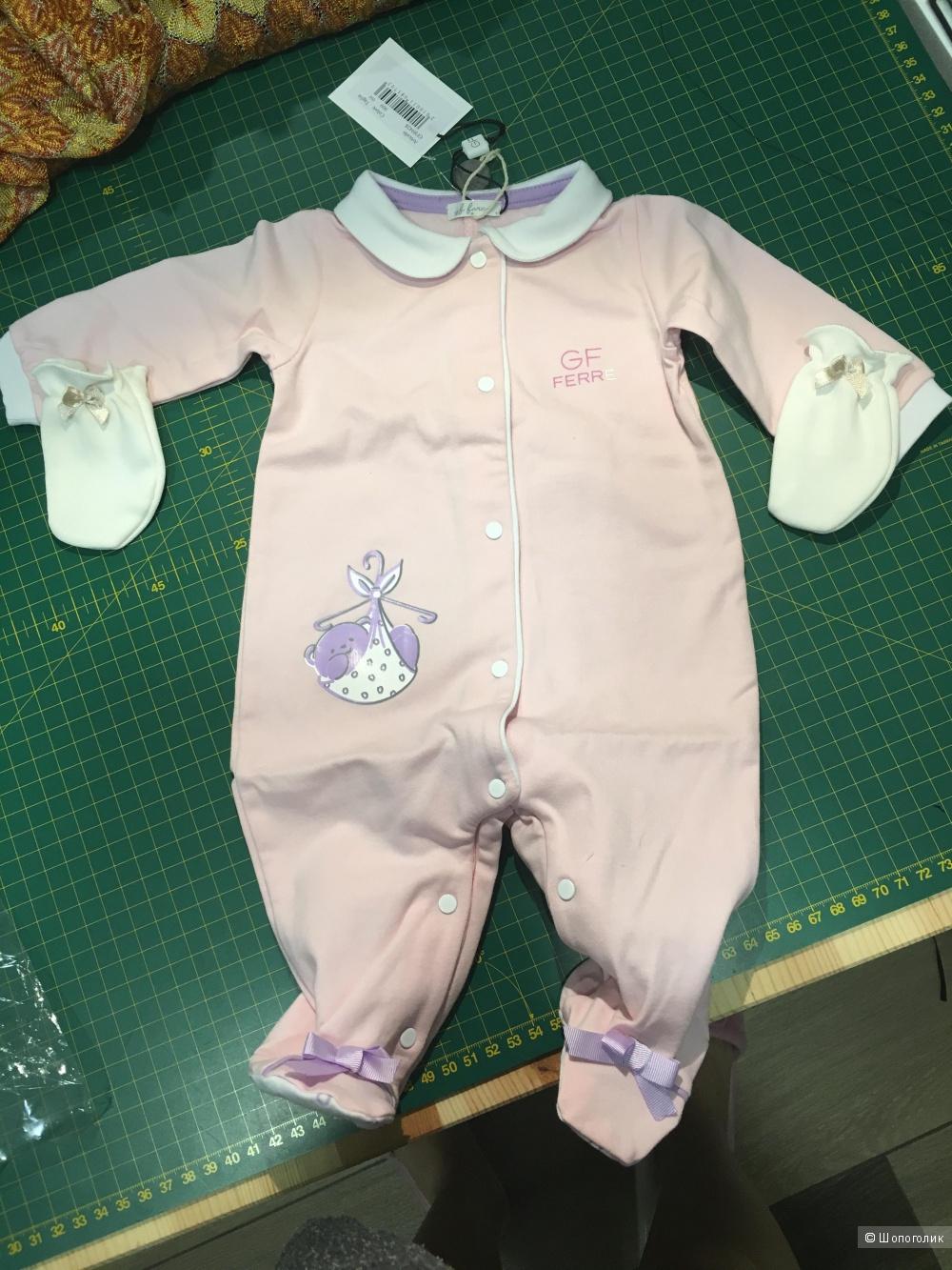 Боди для новорожденного GF Ferre, до 56 см.