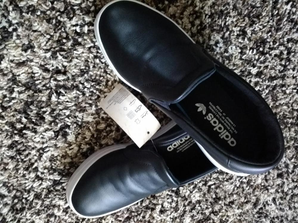 Слипоны кожаные adidas 36 размера