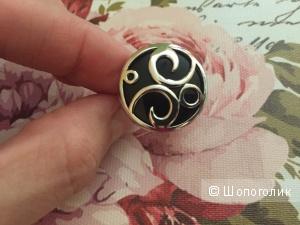 Yarra Sandara серебрянное кольцо с агатом 16,5 размер