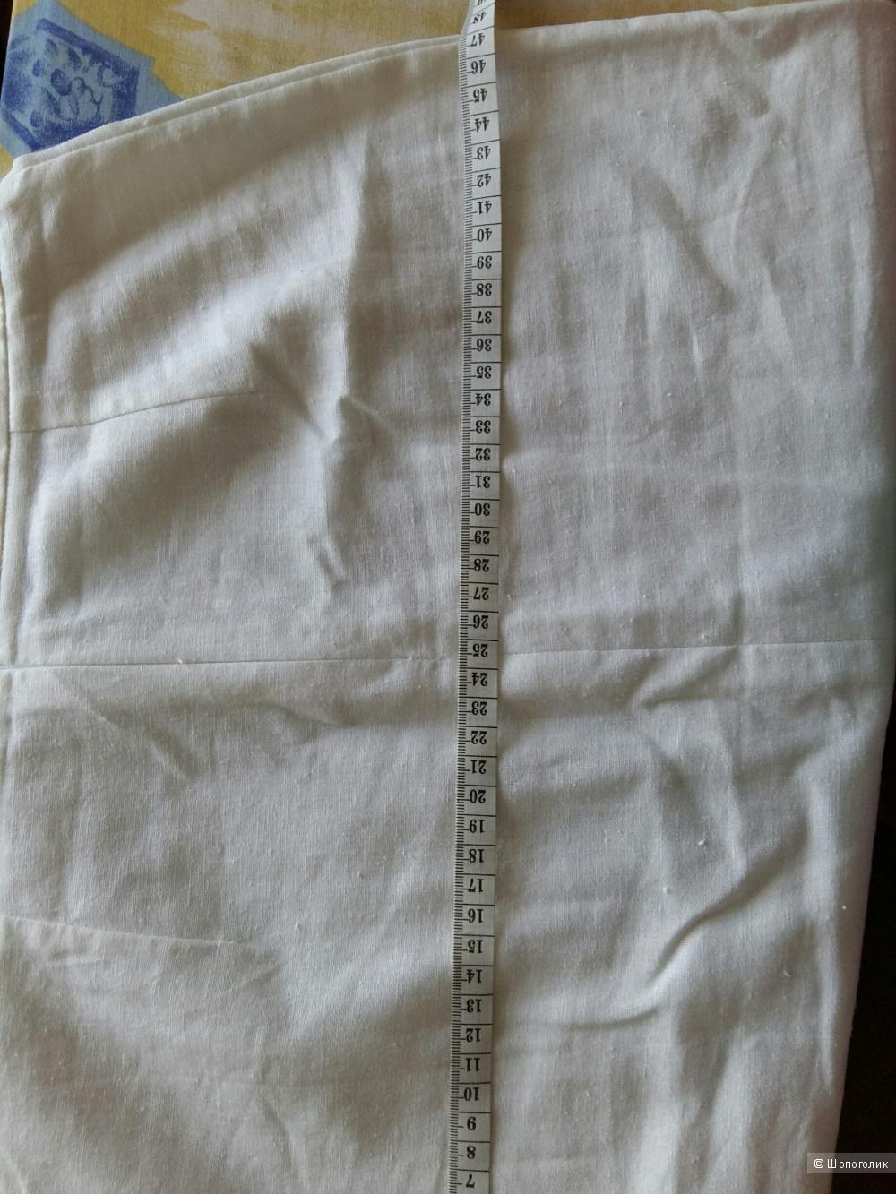 Новое белое платье из льна 10UK