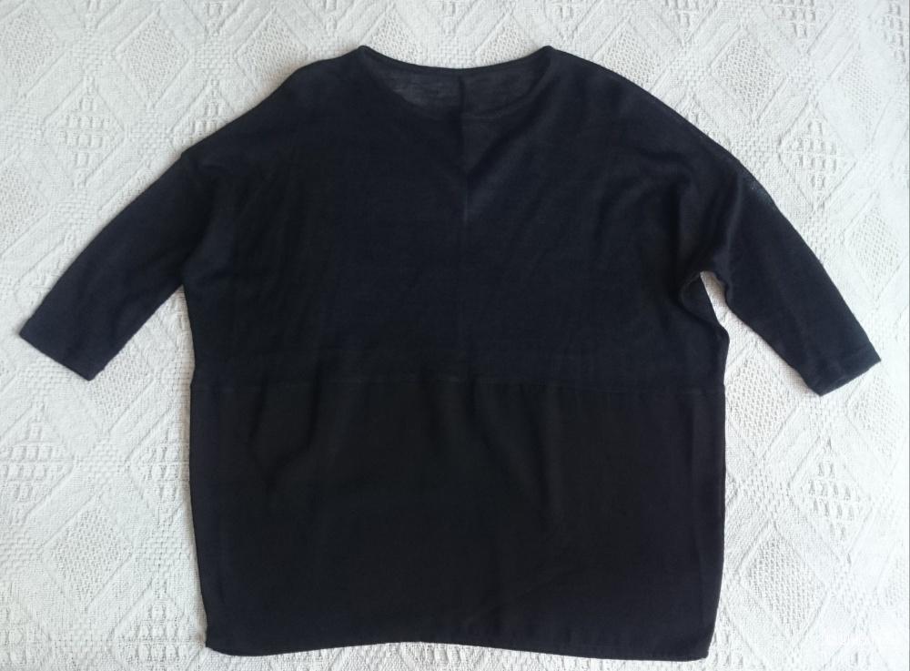 Черная блуза свободного кроя 42-44