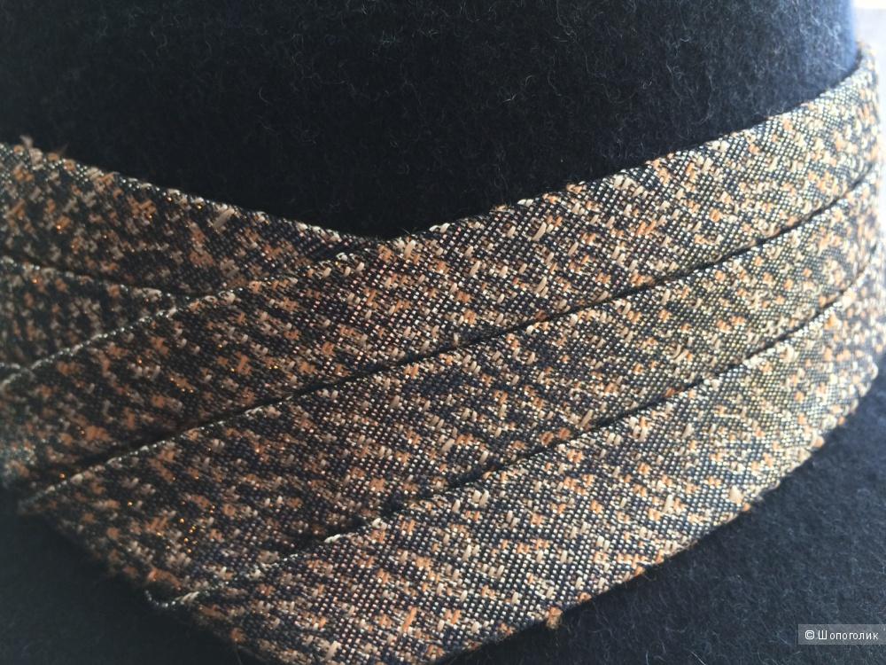 Новая темно-синяя шляпа федора Eugenia Kim / One size