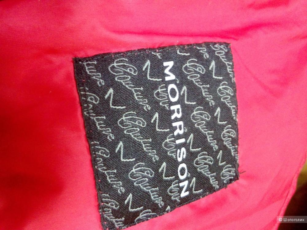 Легкий пуховик красно-розового цвета MORRISON Италия в размере L(46)