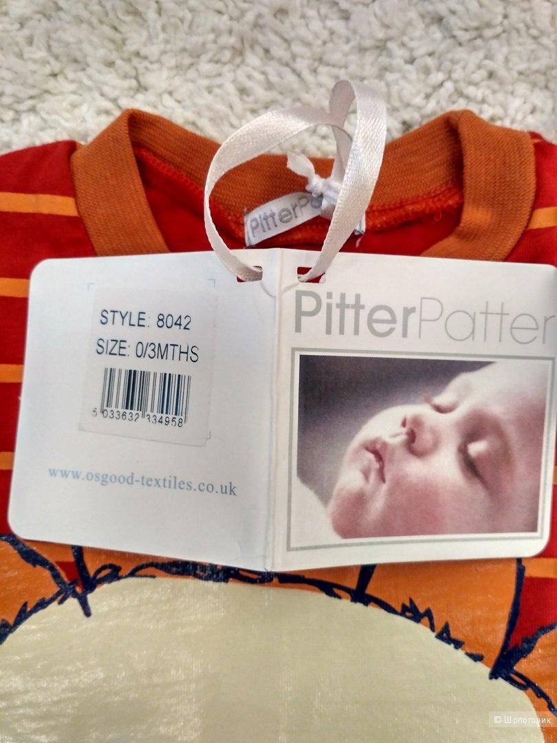 Футболка Pitter Patter (Англия). Размер 0-3 месяца.